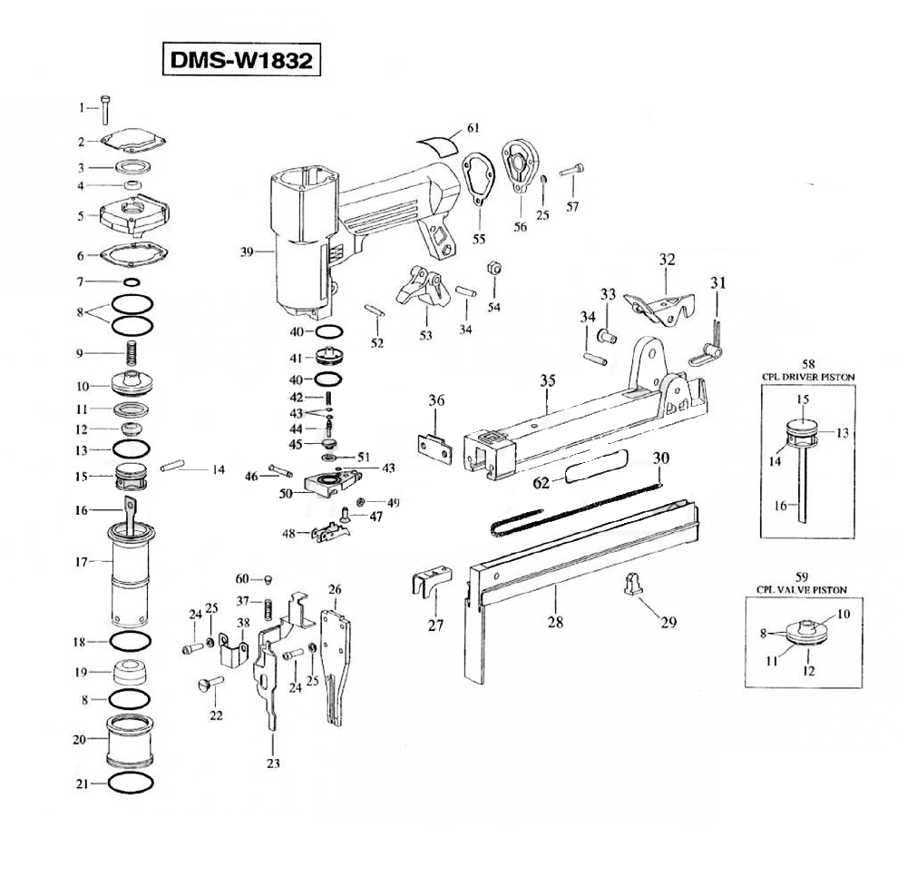 Buy Duo-Fast DMS-W1832 Narrow Crown Fine Wire Stapler