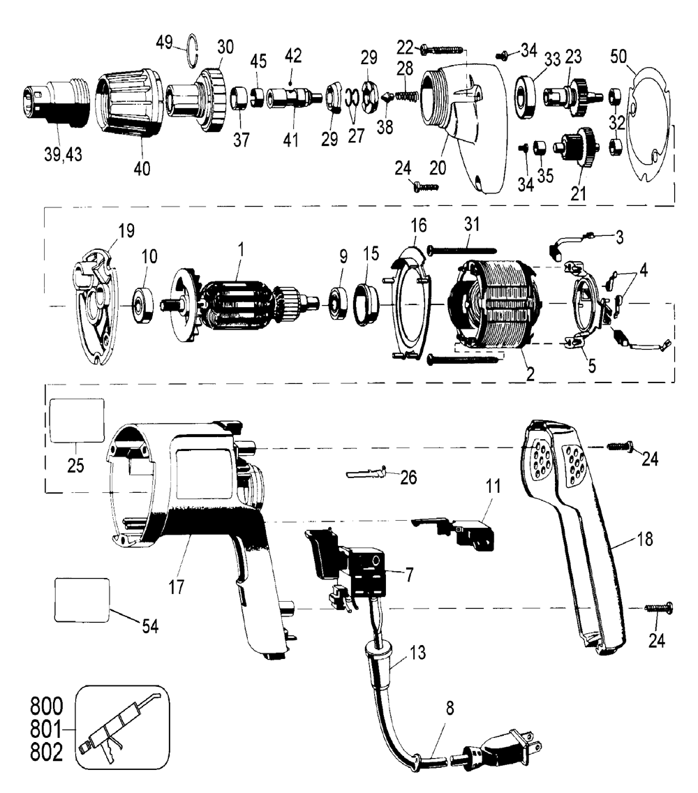 medium resolution of dewalt dw259 type 1 parts schematic