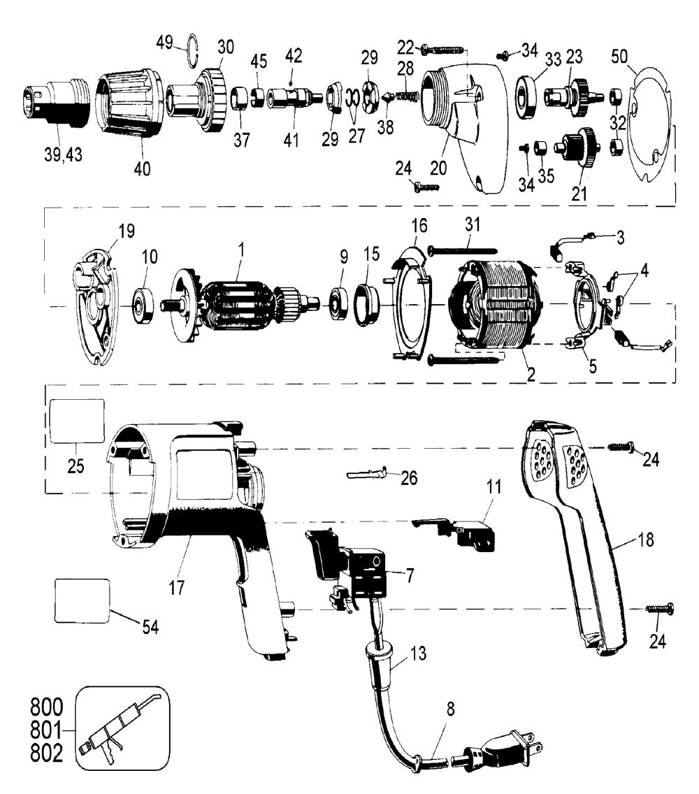 hight resolution of dewalt dw259 type 1 parts schematic