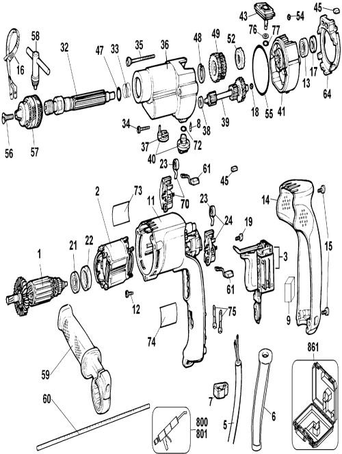 small resolution of dw505 t2 dewalt pb buy dewalt dw505 type 2 1 2 inch 7 dewalt hammer drill wiring diagram