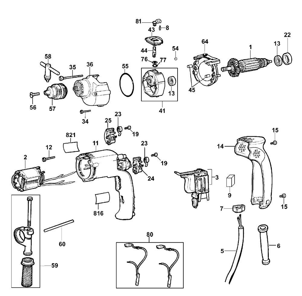 Buy Dewalt DW508S-B3 Type-2 Replacement Tool Parts