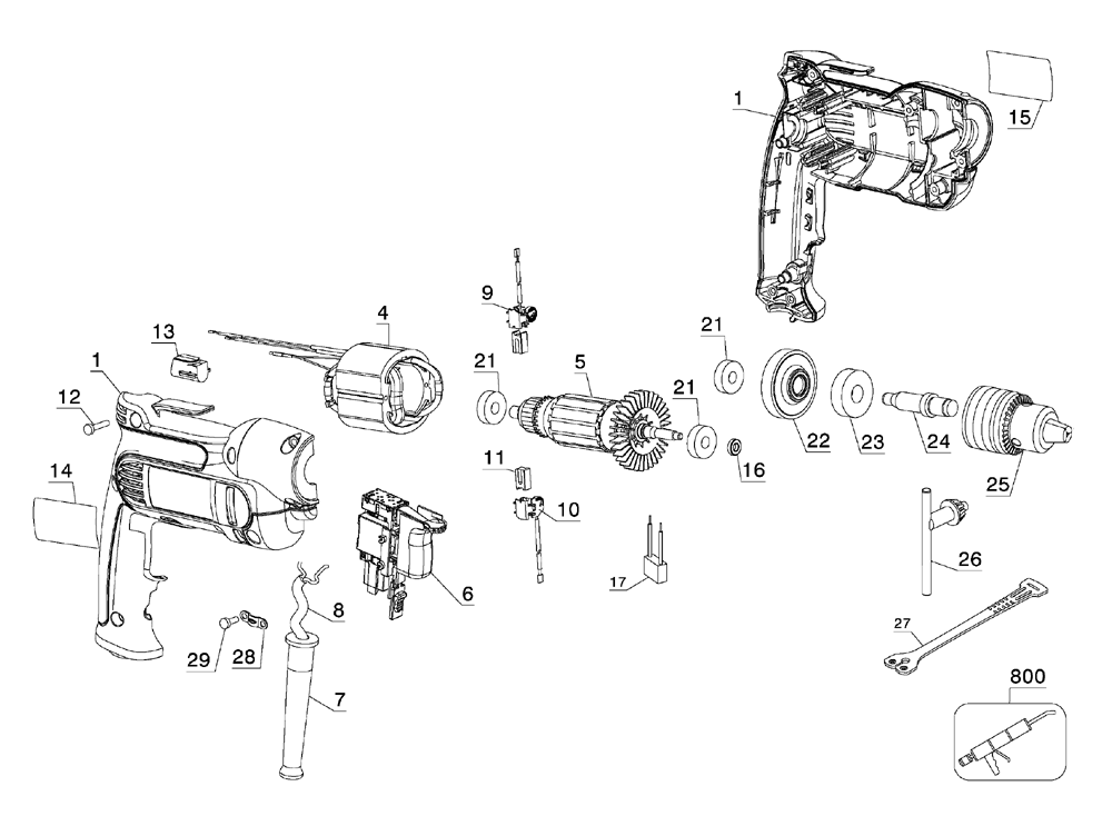 Buy Dewalt DWD112-AR Type-2 3/8 Inch Heavy-Duty VSR Pistol