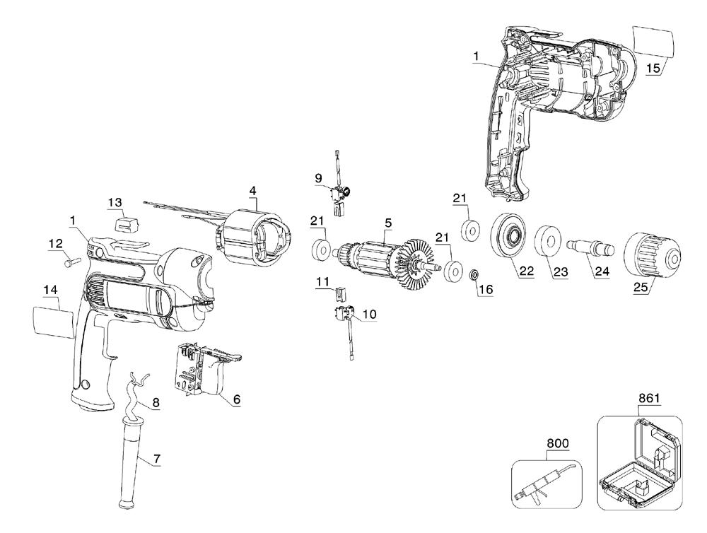 Buy Dewalt DWD112 Type-2 3/8 Inch Heavy-Duty VSR Pistol