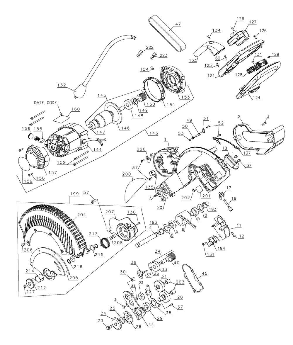 medium resolution of dewalt saw parts diagram wiring
