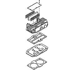 DeWalt Parts 5140119-51 HEAD/VALVE PLATE ASY For DeWalt