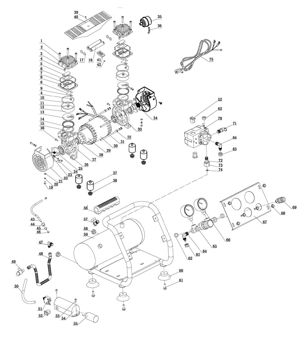 Buy Hitachi EC28M AIR COMPRESSOR Replacement Tool Parts