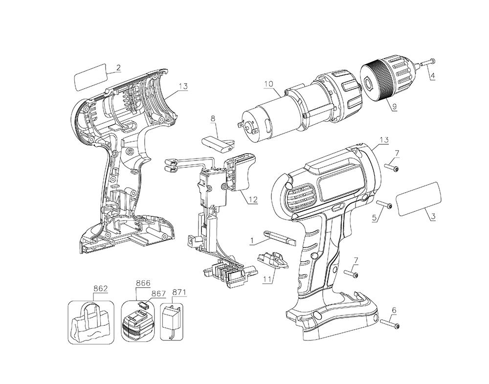 Craftsman Cordless Drill Parts. Craftsman. Tractor Engine