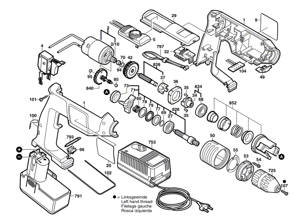 Buy Bosch GSB12VSP-2-(06019374B5) Impact Drill Replacement