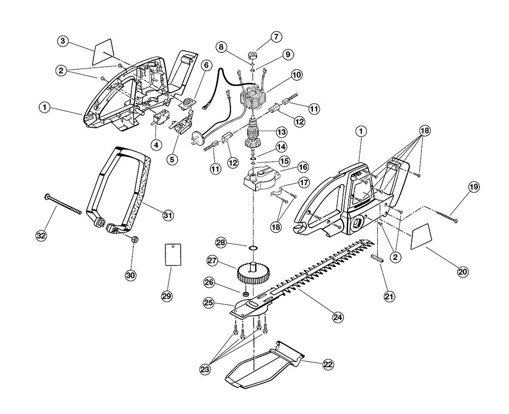 Buy Ryobi HT816R (80001-9848) Replacement Tool Parts