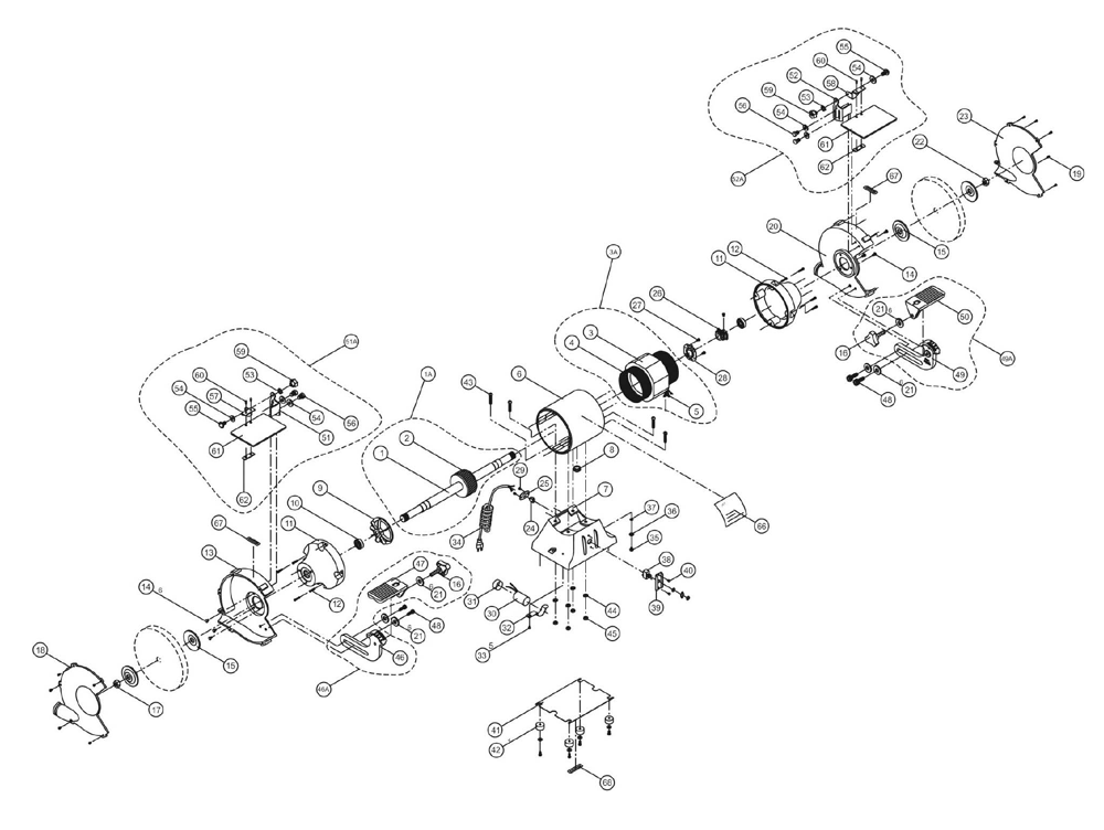 Buy Jet JWBG-8-(726100) 8-inch Bench Grinder Replacement