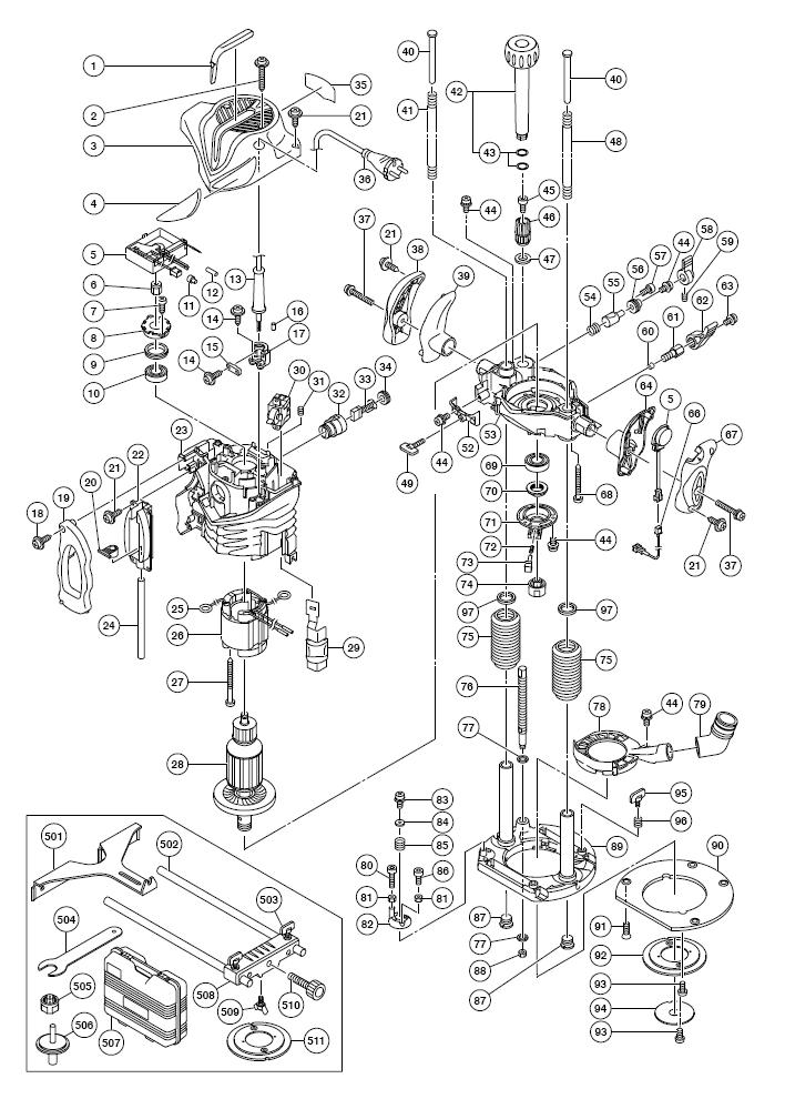 Buy Hitachi M12V2 3-1/4 Peak HP Variable Speed Plunge
