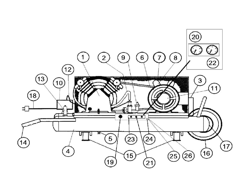 Buy Makita MAC3001 Type-1 3 H.P. Electric Air Compressor