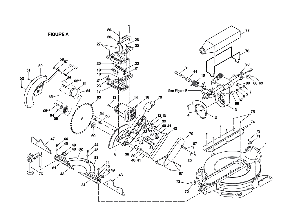 Parts Ridgid Table Saw
