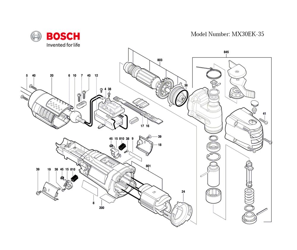 Buy Bosch MX30EK-35-(3601B30510) Oscillating Tool (3.0 Amp