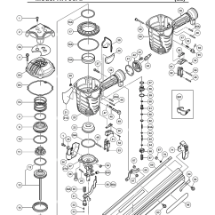 Hitachi Nail Gun Parts Diagram 220 Volt Wiring Buy Nr90af 3-1/2 Inch Wire Weld Framing Replacement Tool | Other ...