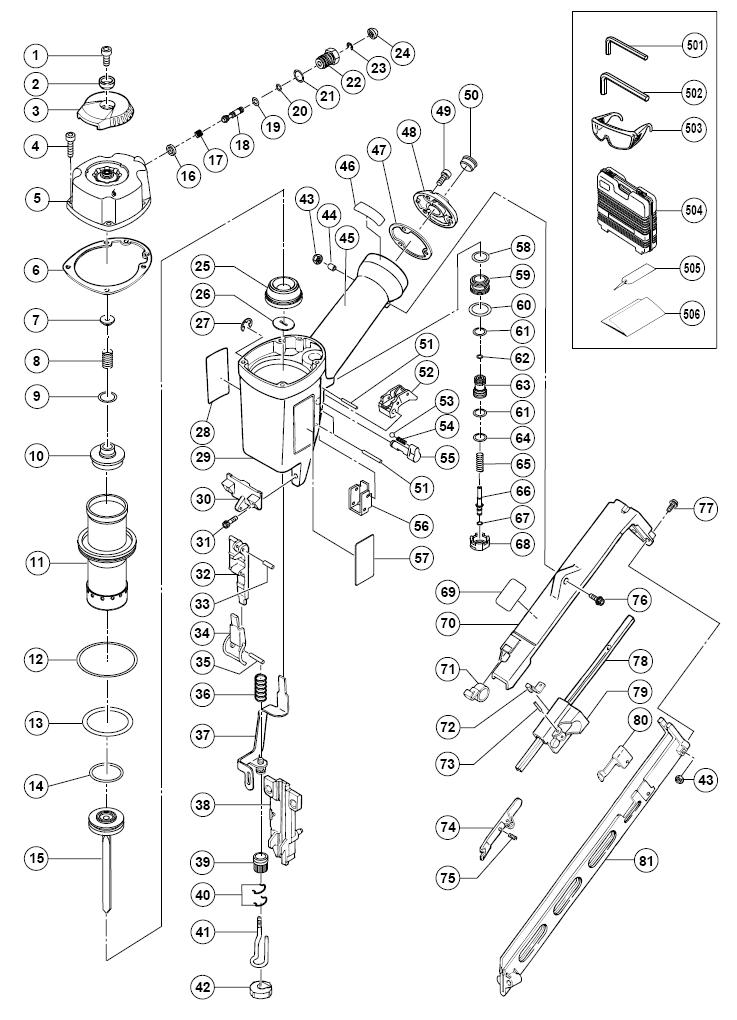 Buy Hitachi NT65MA2 2-1/2 Inch 15 Gauge Finish Replacement