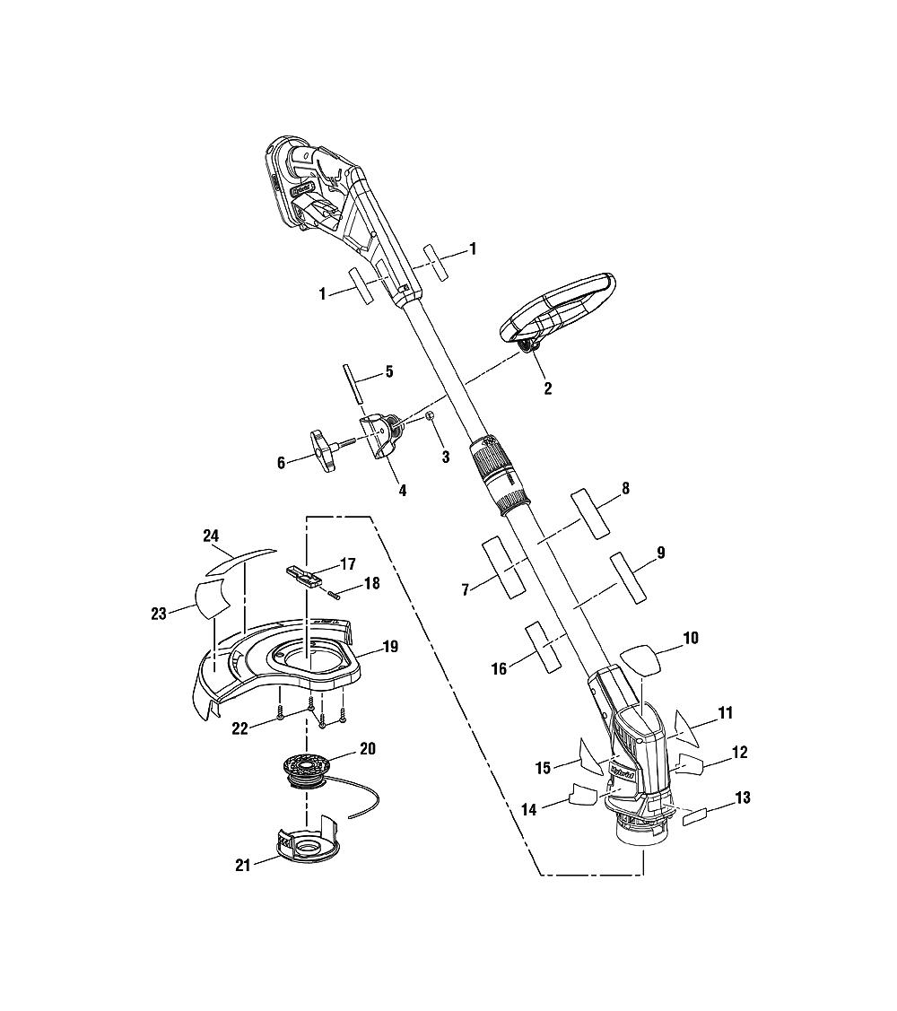 hight resolution of ryobi p2200 parts schematic