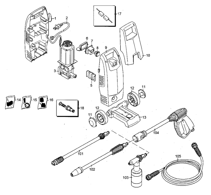 karcher electric pressure washer parts diagram circuit connection