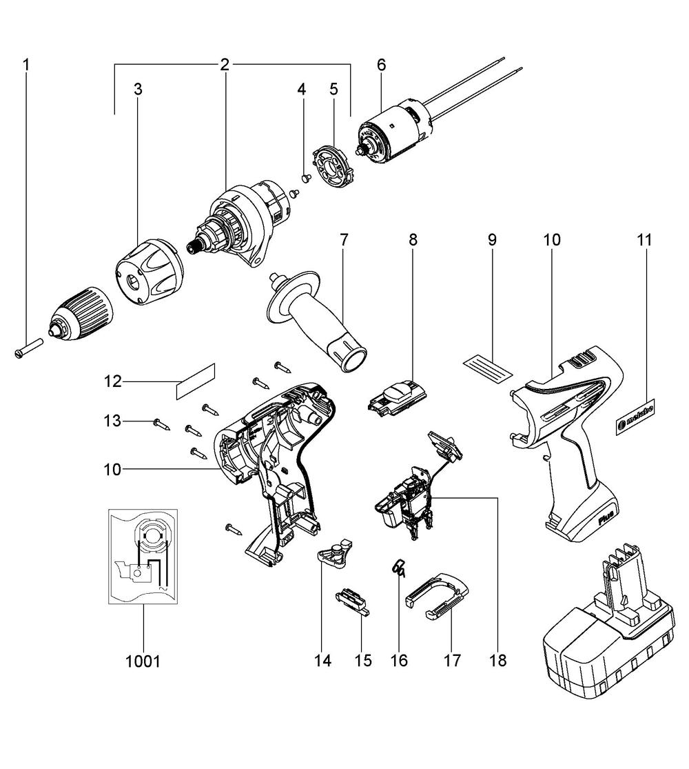 Buy Metabo SBP18Plus-(02422420) Replacement Tool Parts