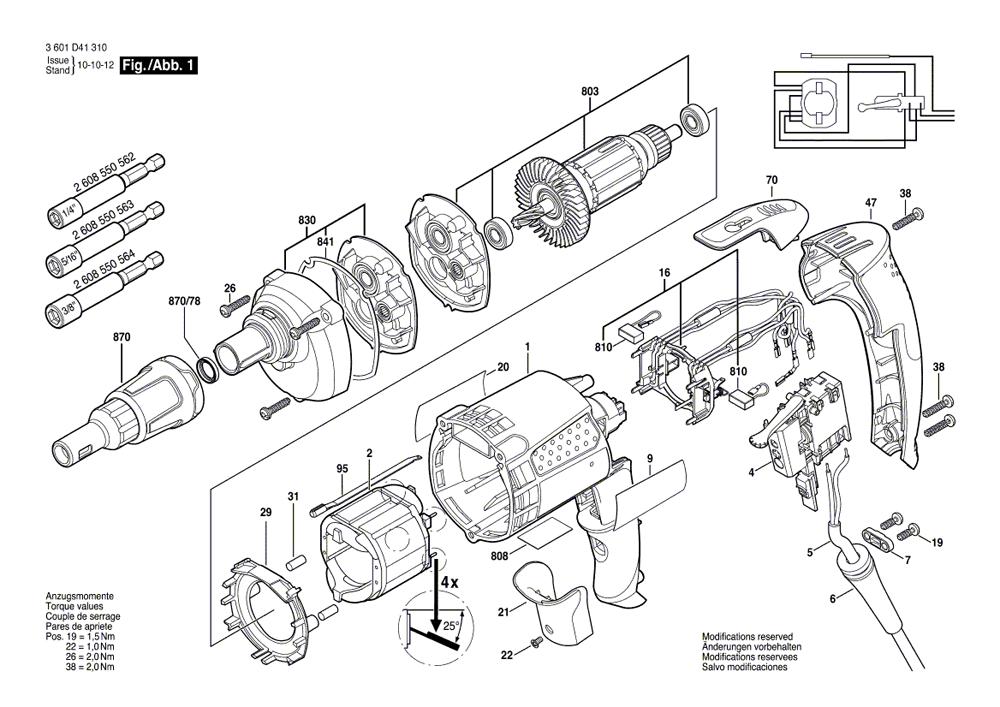 Buy Bosch SG25MT TEK Screw Gun 2,500 RPM Replacement Tool