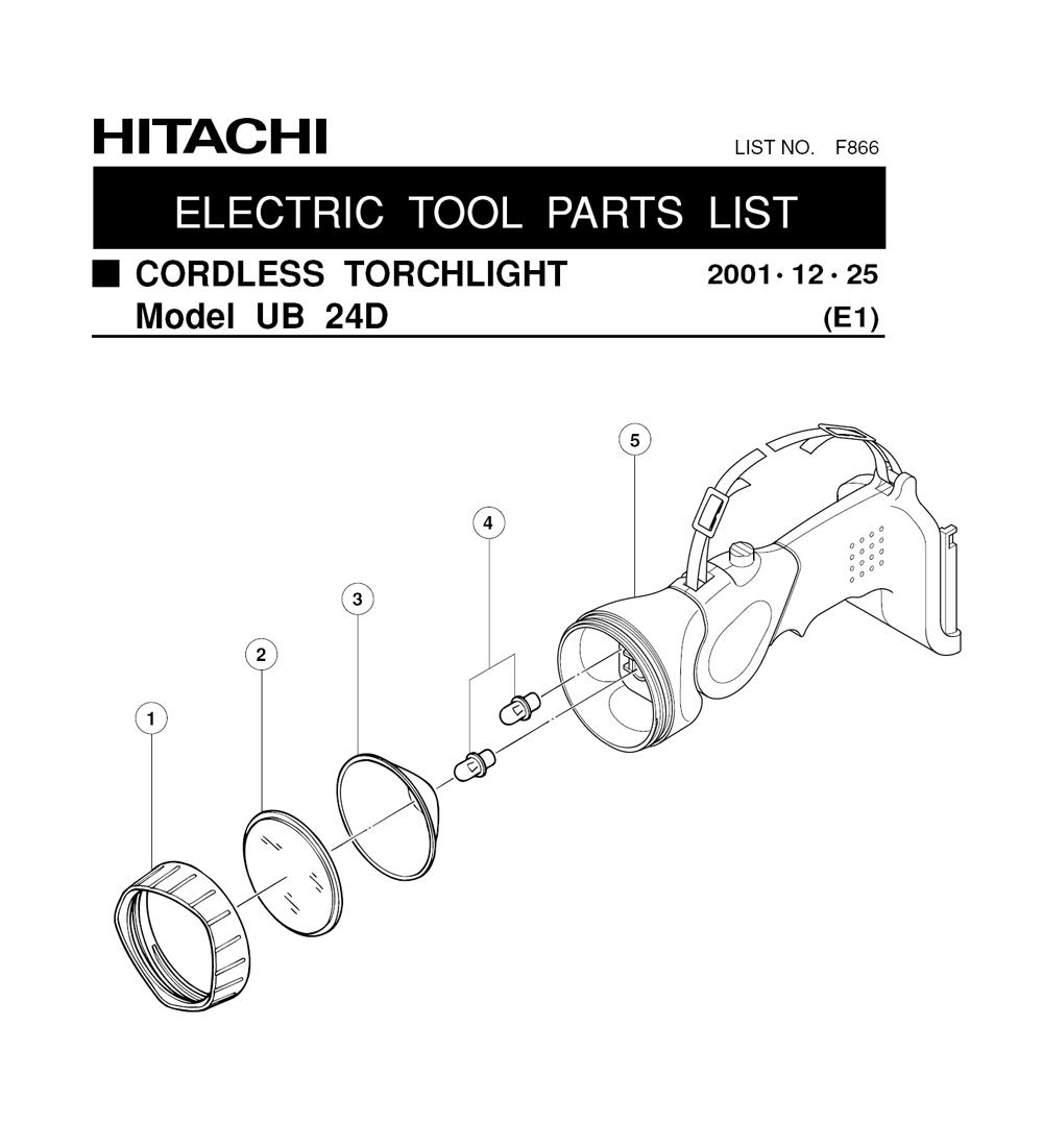 Buy Hitachi UB24D 24-Volt Cordless Torch Replacement Tool