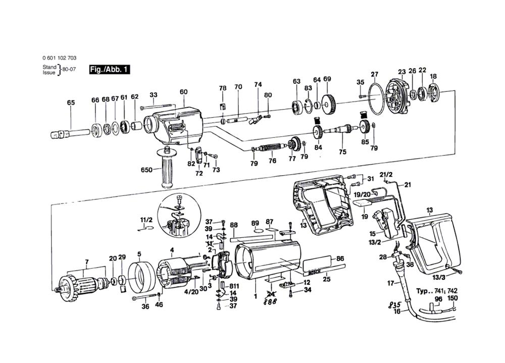 Buy Bosch UB2J75-UB2-75-(0601102905) Replacement Tool