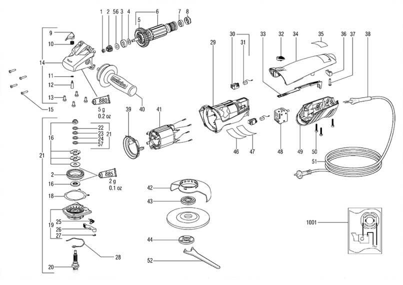 metabo cordless drill spare parts