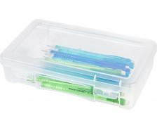 boite plastique rectangulaire modular couvercle clips