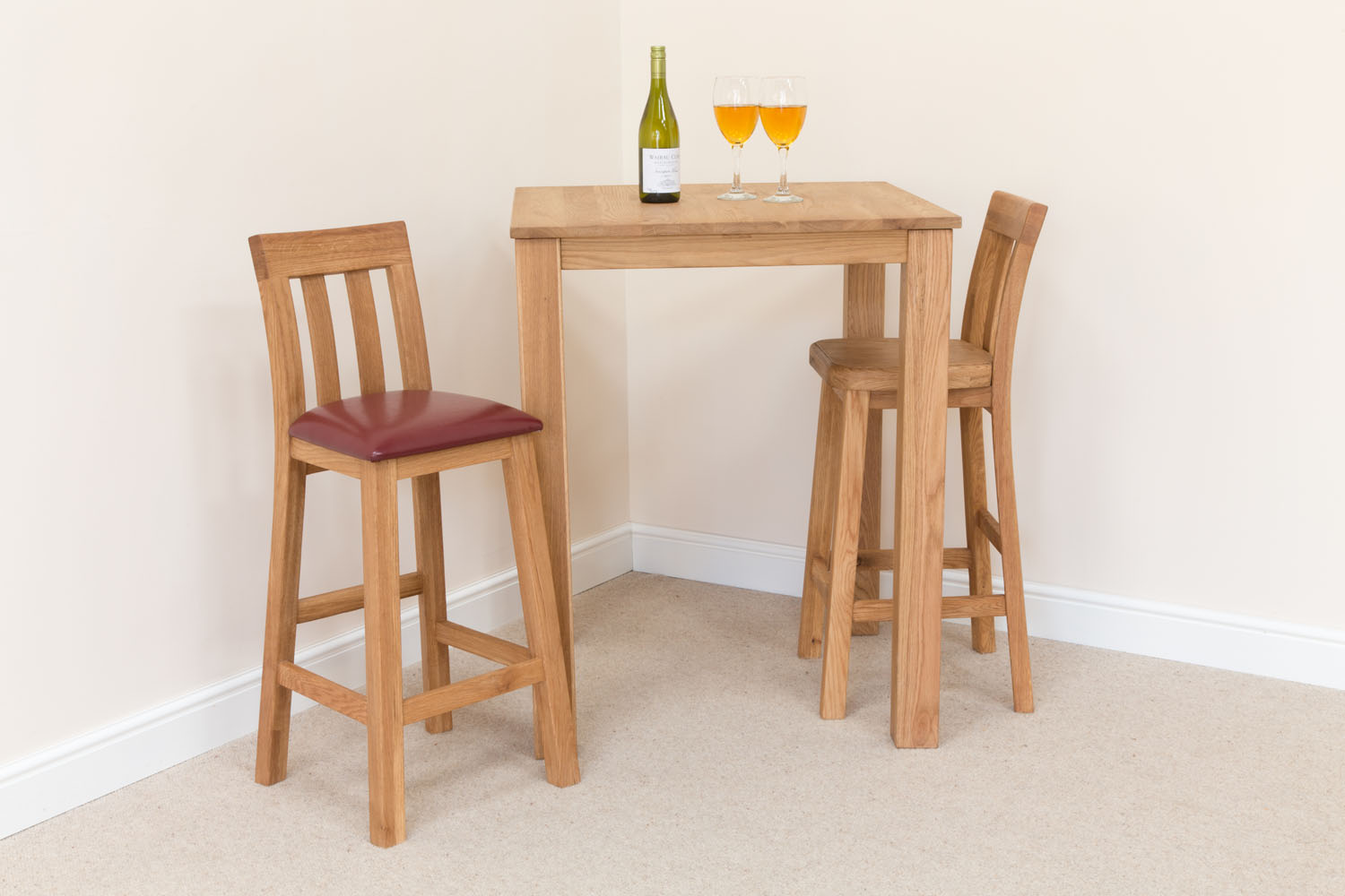 Wood Bar Chairs Billy Solid Oak Kitchen Bar Stool