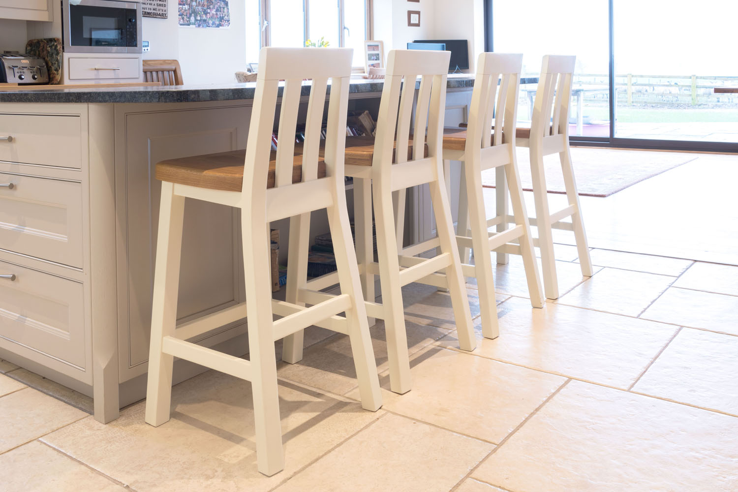 kitchen stool types of countertops cream painted tall billy free delivery top furniture