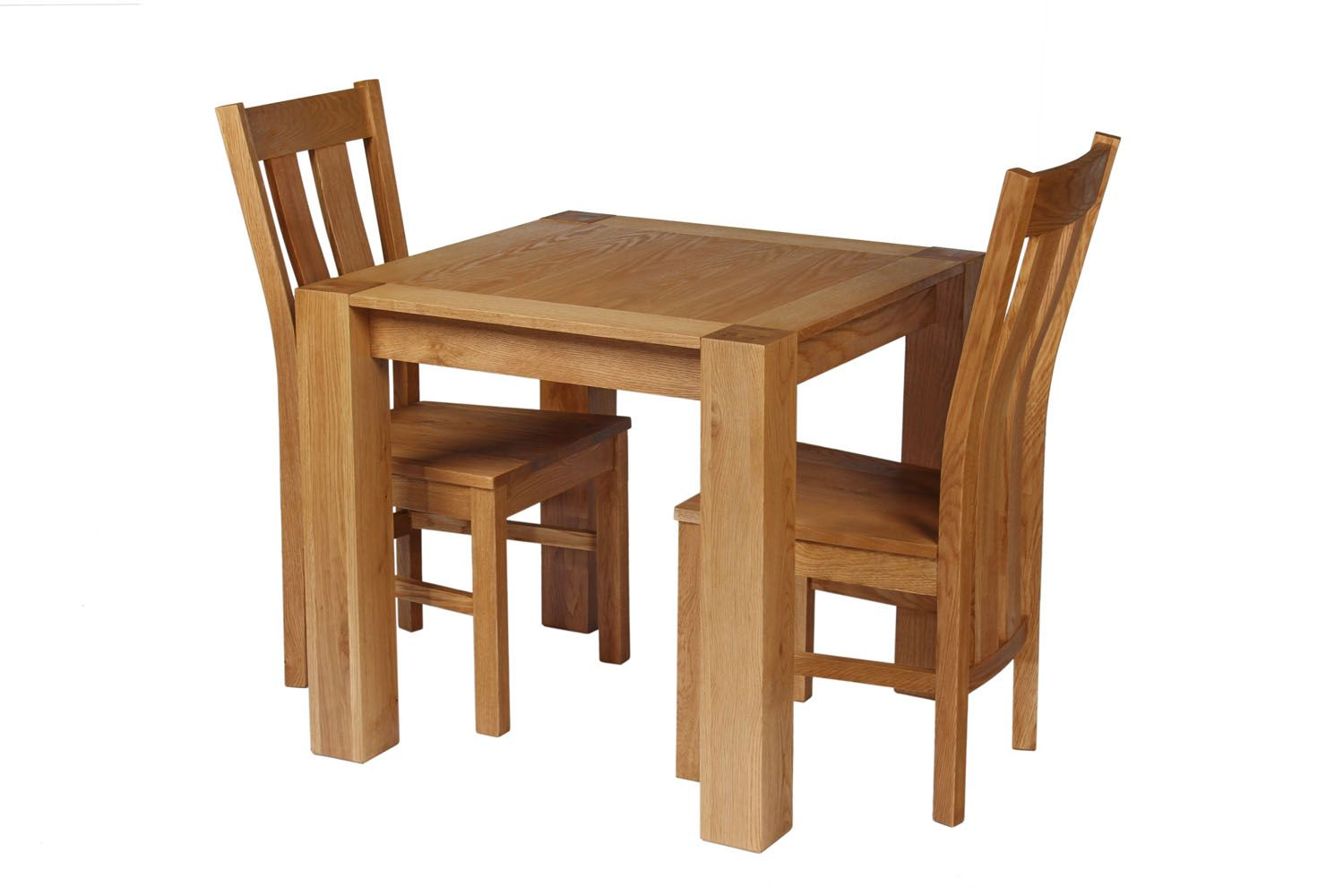 Table With 2 Chairs Cambridge 80cm Oak Table 2 Churchill Oak Seat Chair Set