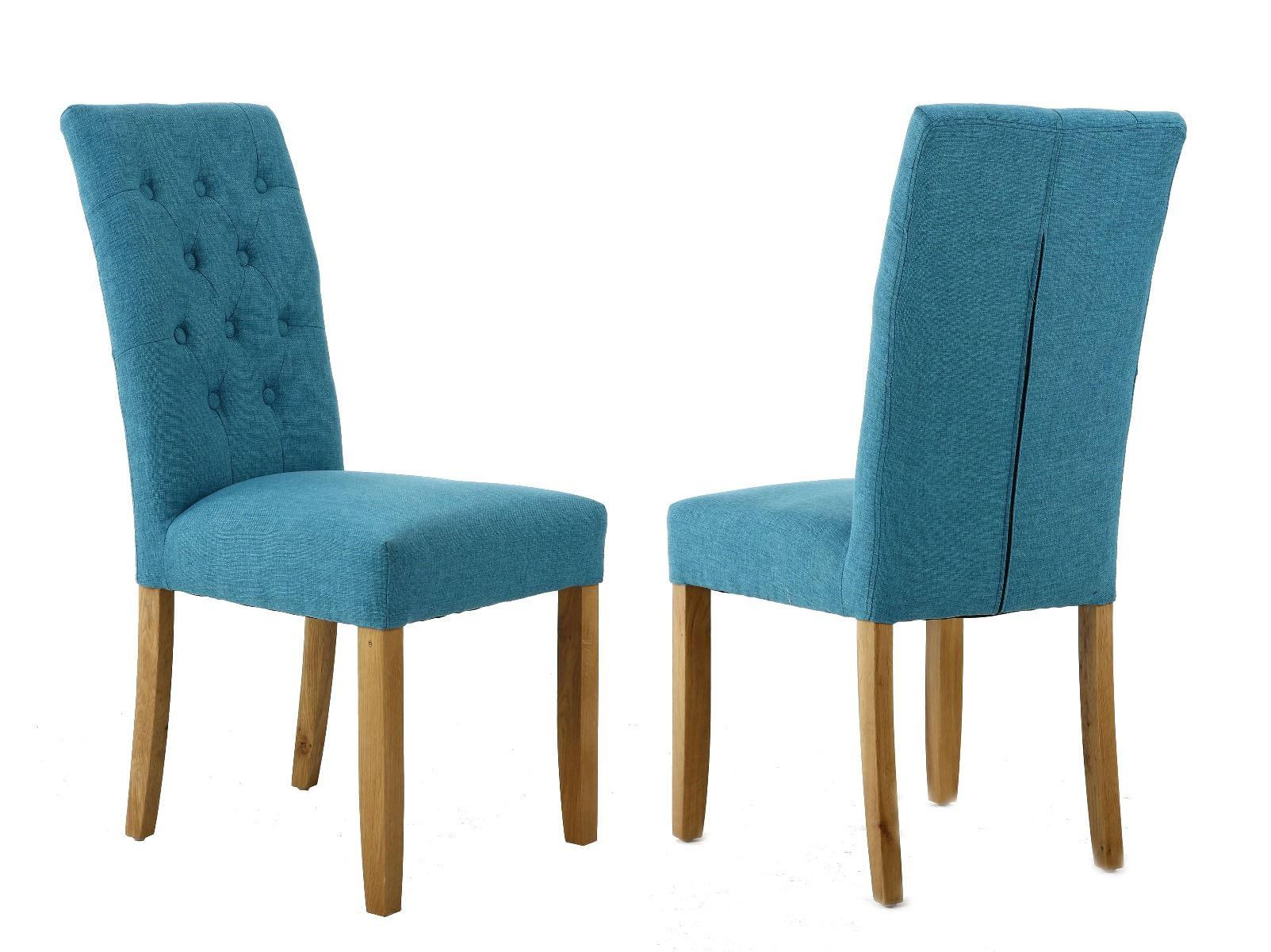 Aqua Dining Chairs Kensington Teal Fabric Dining Chair With Oak Legs