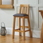 Billy Tall Solid Oak Bar Stool Brown Leather Free Delivery Top Furniture
