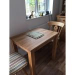 Small Solid Oak Dining Table Cheap 2 Seater Kitchen Table