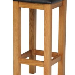 Wooden Kitchen Stools Cabinet Refacing Mississauga Baltic Solid Oak Brown Leather Bar Stool January Sale