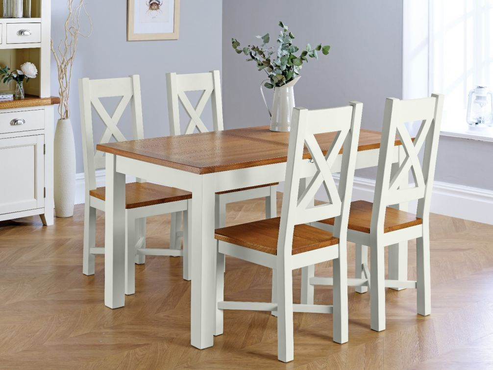 grey painted chairs graco wooden high chair country oak 180cm extending dining table 4 grasmere and