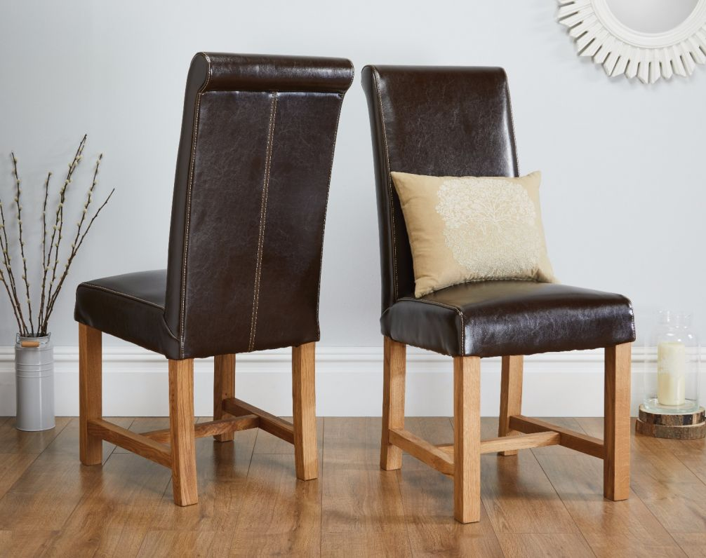 Brown Leather Chairs Titan Premium Dark Brown Leather Dining Chair