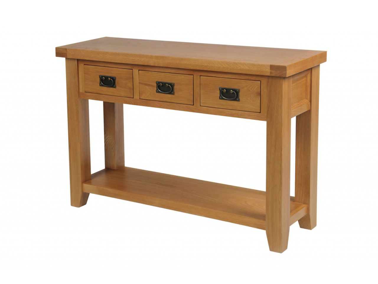 country cote sofa table very large back cushions oak 3 drawer console