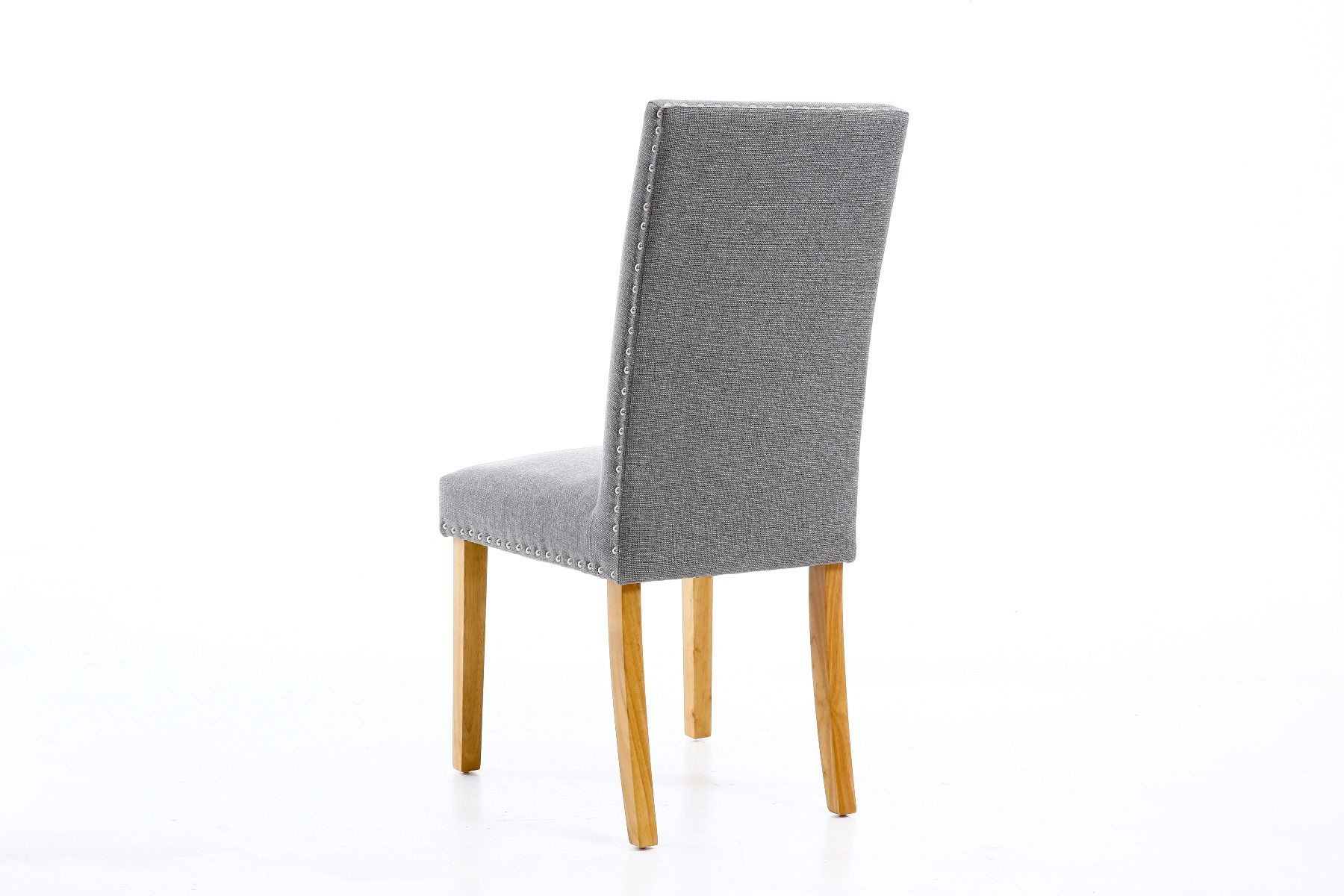 Dining Chair Dimensions Mayfair Silver Grey Fabric Studded Dining Chair Spring Sale