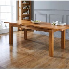 Oak Kitchen Table Menards Design Tables Top Furniture Country 1 8m To 2 3m Butterfly Extending Dining
