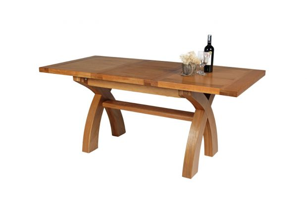 oak kitchen tables ashley furniture island top country 1 3 8m cross leg dining table january sale