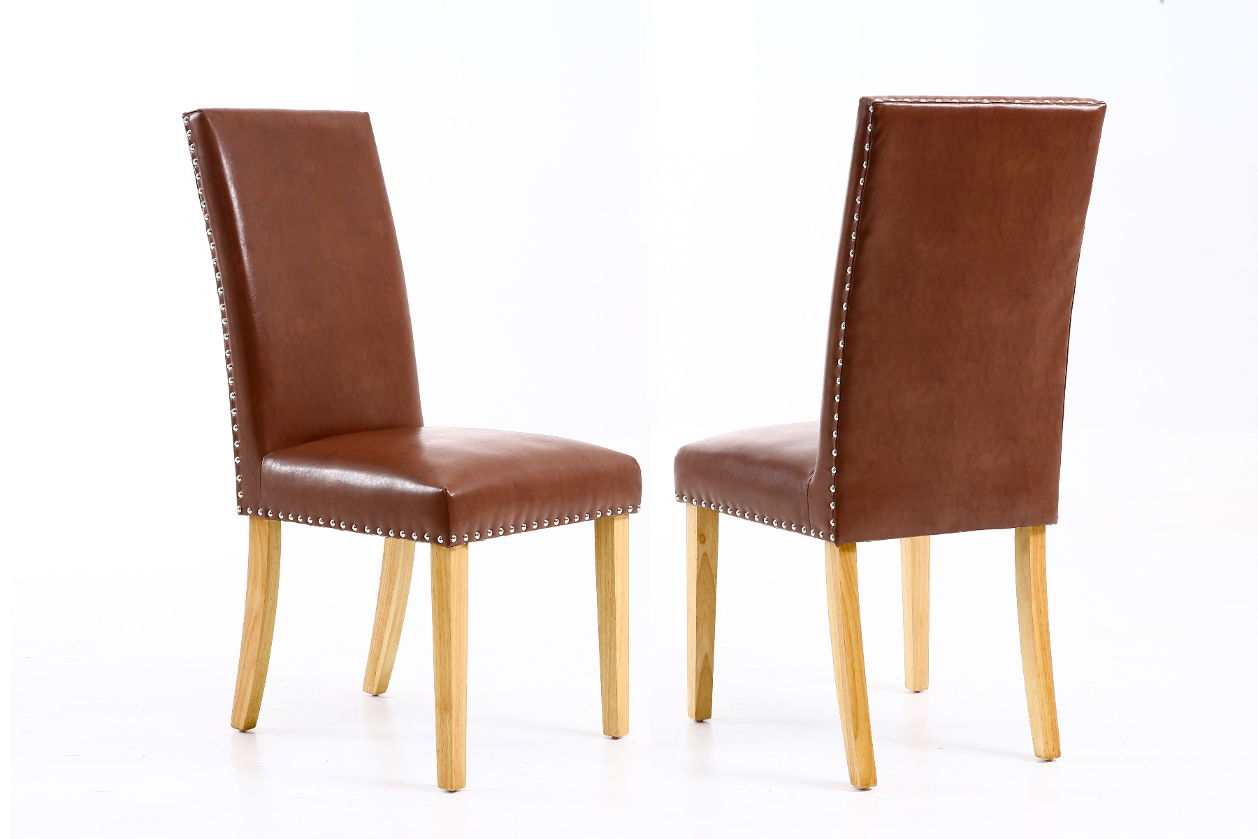 Studded Dining Chairs Mayfair Tan Brown Leather Studded Dining Chair Spring Sale