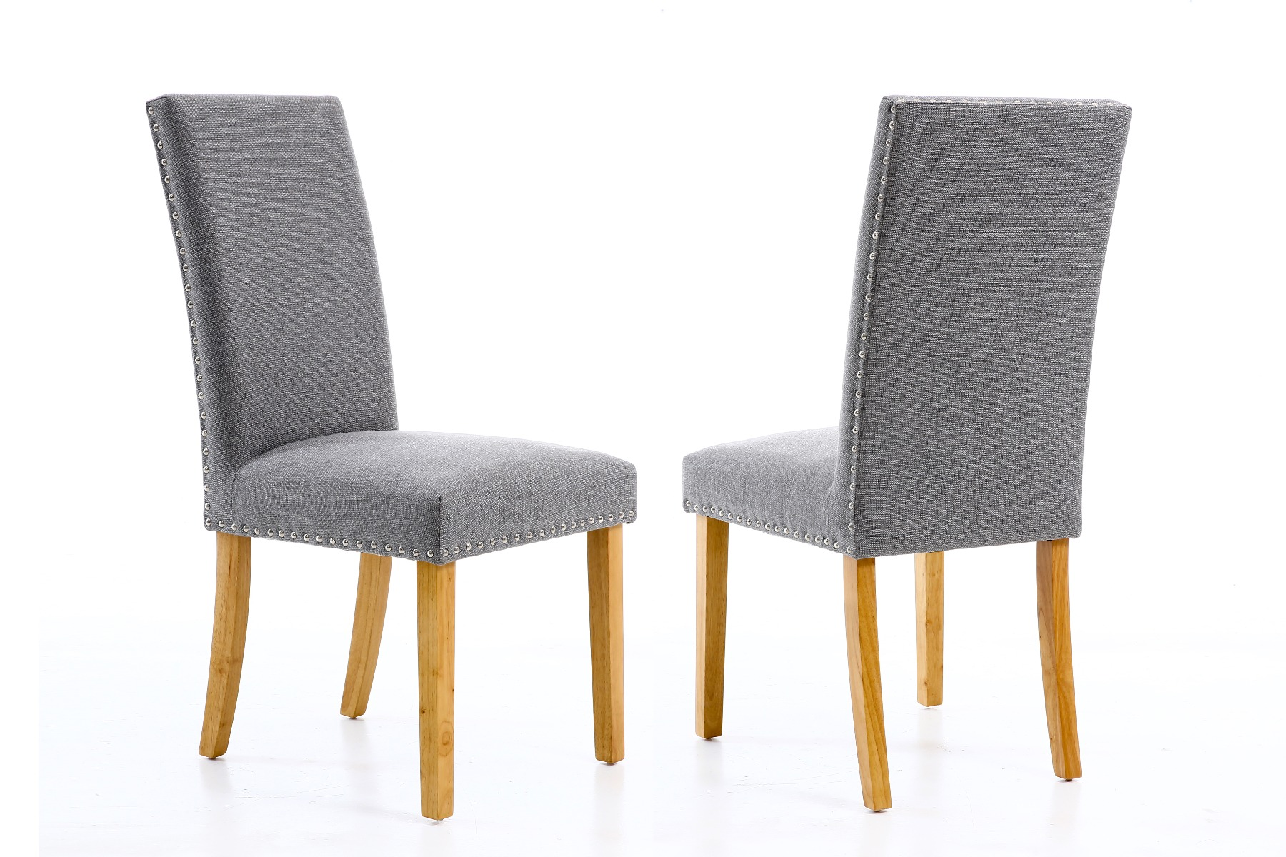 Studded Dining Chairs Mayfair Silver Grey Fabric Studded Dining Chair Spring Sale