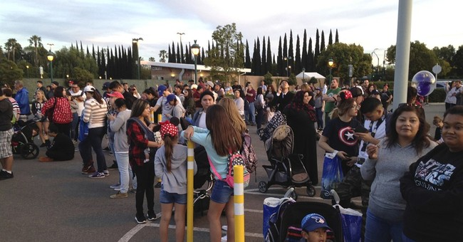 7 people treated, 8 cars burn in Disneyland parking fire