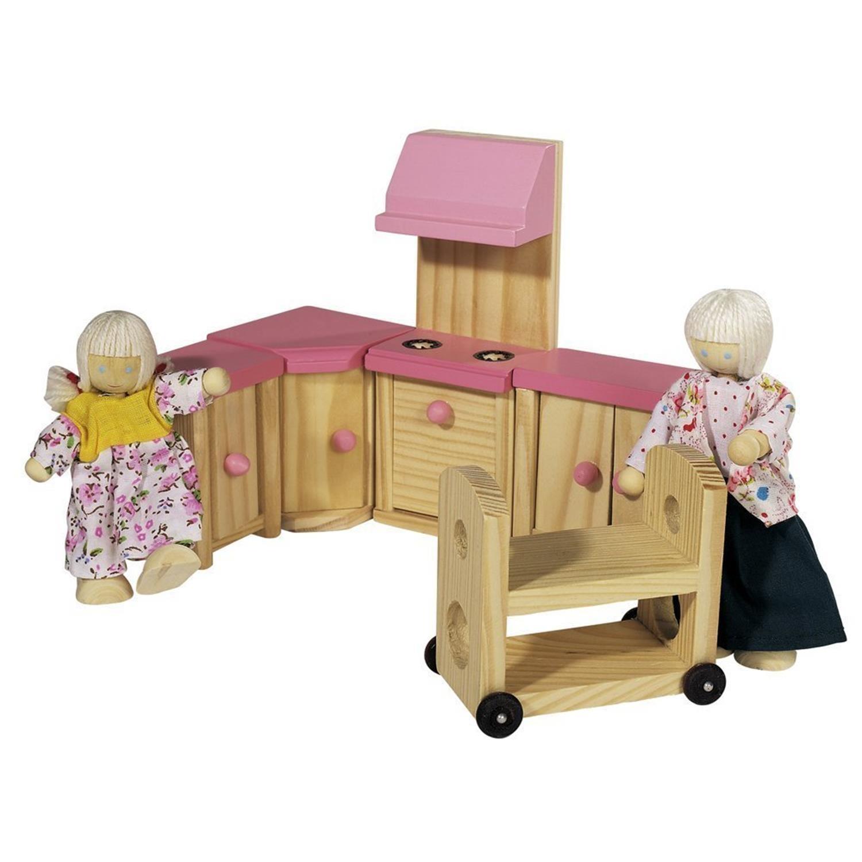 Eichhorn 100002513 Puppenvilla inklusive 4 Puppen und