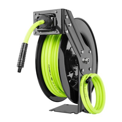 Flexzilla Open Face Retractable Air Hose Reel, 3/8 in. x