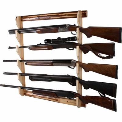 rush creek creations rustic series long gun wall rack 5 guns 33 in h x 29 5 in w x 4 in l 37 0036