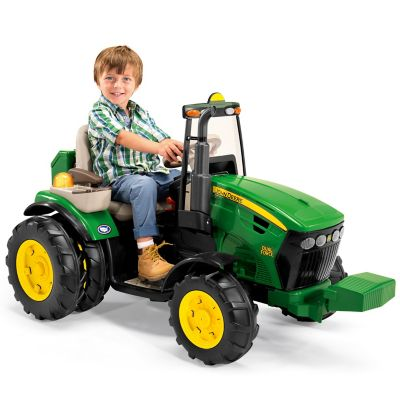 Peg Perego John Deere Dual Force Ride On Tractor at