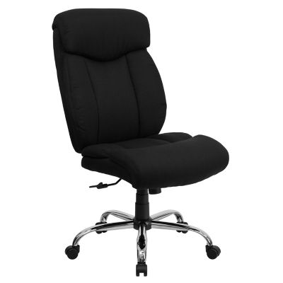 tall swivel chair rentals jacksonville fl hercules series big 400 lb rated black fabric executive with chrome base at tractor supply co