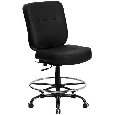 flash furniture hercules series big tall executive desk swivel drafting chairs black 400 lb weight capacity wl735sygbklead